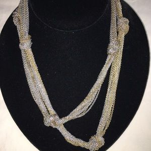 The Loft Silver and Gold Mesh Necklace